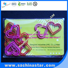 many color craft wire heart shape