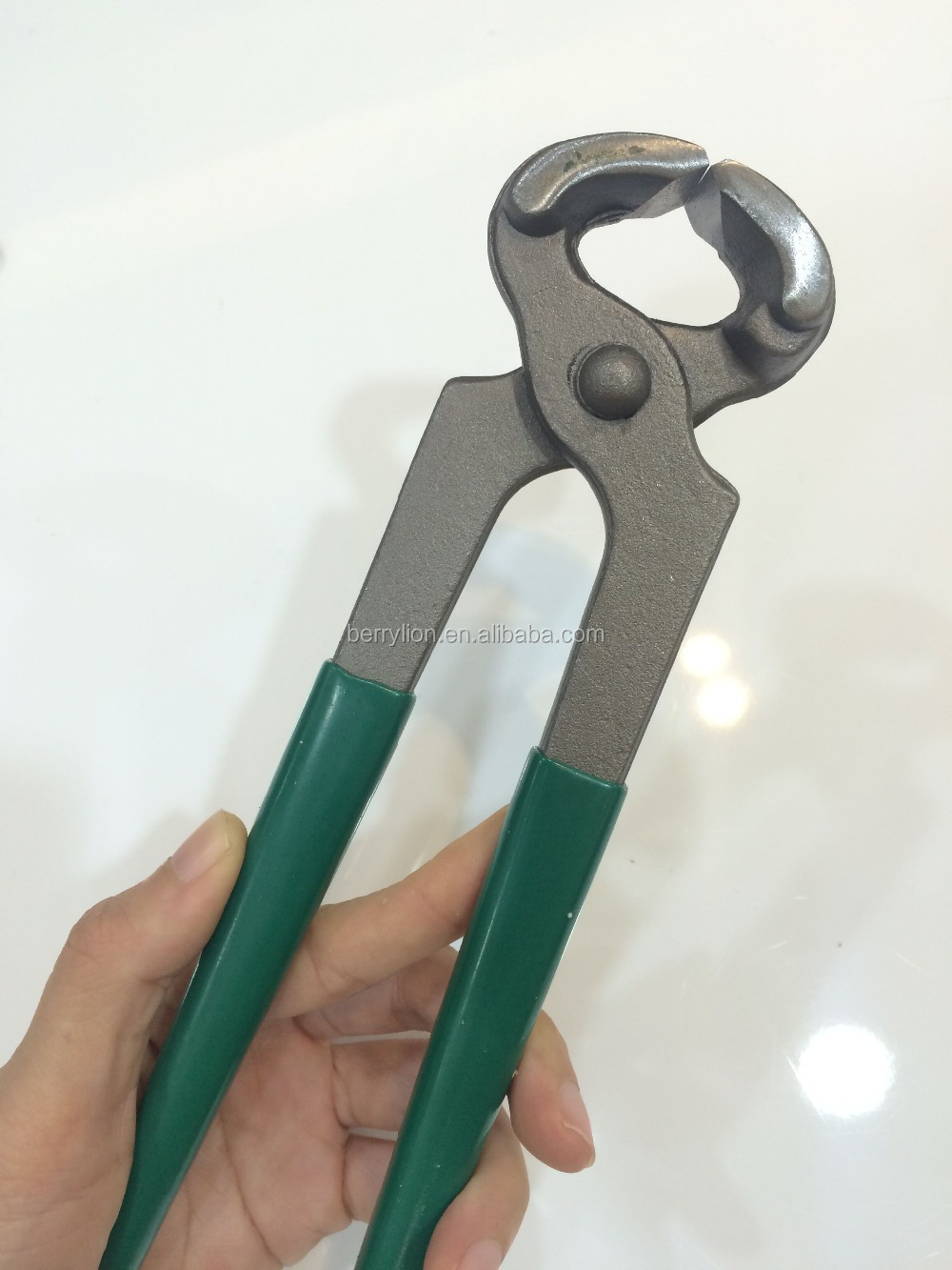 200mm professional nail pulling pliers, green color nutcracker plier