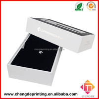 sponge insert black and white striped gift box for electronics