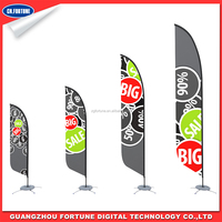 Cheap Promotion Printable Beach flag banner product display stands for Outdooring Advertising flag