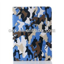 Camouflage pattern Leather cover for ipad air military style cover for ipad Intelligent Magnet case for ipad
