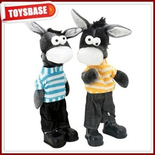 Plush funny singing soft plastic farm animal toy