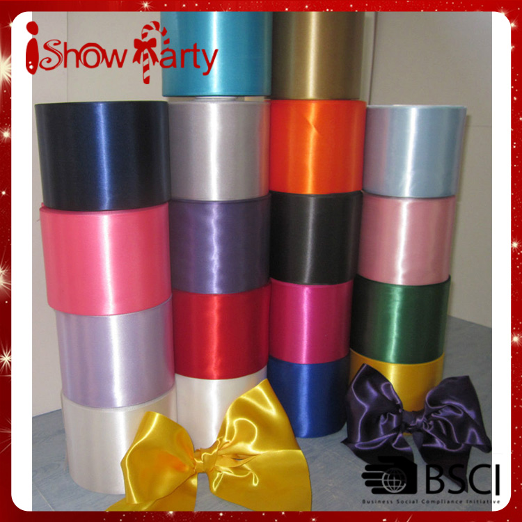 Top Selling Colorful Wholesale Cheap Customized 100% Double Sided Satin Bows