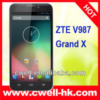 Original ZTE V987 Grand X 5.0 inch MTK6589Android 4.0 8.0MP big screen china mobile phone