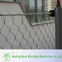 Anti-rot Diamond Knotted Protective Hand Woven Wire Mesh /security fence