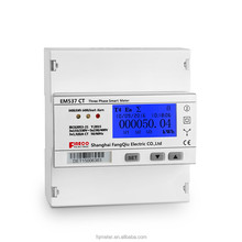 LCD display panel mount three phase 4 wire energy meter connection