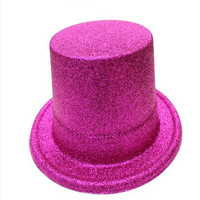 Hot selling plastic glitter top party adults hat for party