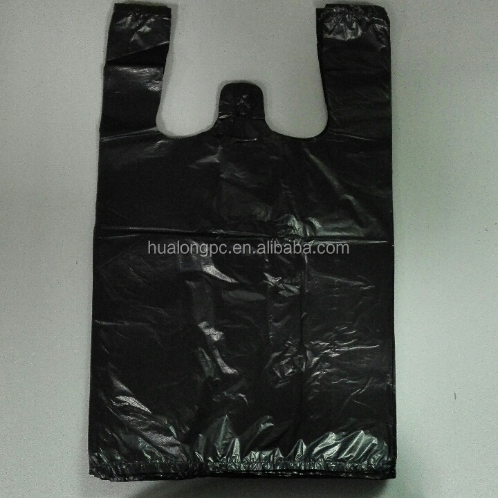 black vegetable plastic bags t-shirt bags export bags distributors