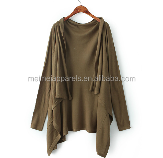 Woman knit cardigan basic pure color sweater casual fashion style can be customized