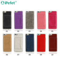 New product wallet universal leather mobile phone case with stand holder for iPhone 6 plus