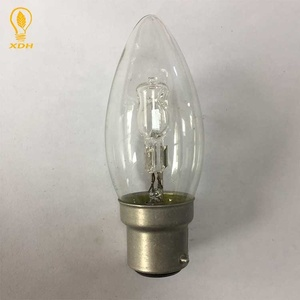 C35 candle energy saving halogen lamp 220-240V 42W B22