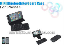 full qwerty wireless keyboard case for iphone 5gs, PU leather 2 in 1