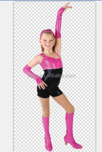 wholesale high quality pink and black kids stage performance clothes