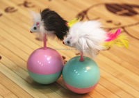 Wholesale Pet Toy Fur Toy Roly-Poly Toy For Cat PT078