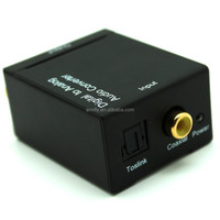 Digital to Analog Converter converts Coaxial or Toslink digital audio signals to analog L/R audio