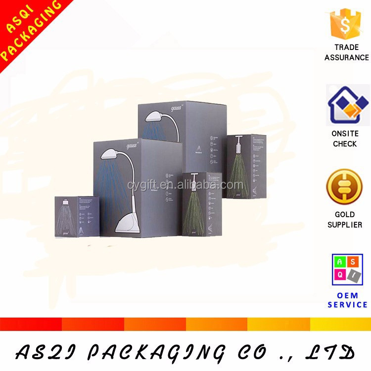 square recycled cardboard customized packing box for table lamp packaging