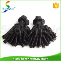 Over 10 years chinese wholesale suppliers 7A sexy anty curly brazilian virgin funmi hair