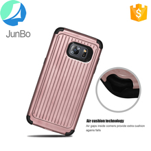 anti shock luggage style high quality cute phone case for samsung galaxy s7 edge cover tpu+pc