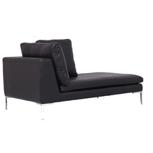 Charlie Modern living room heated Leather recliner tv sofa