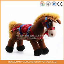 Wholesale plush brown horse stuffed toy