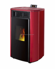 Italian portable wood pellet stove with two door design