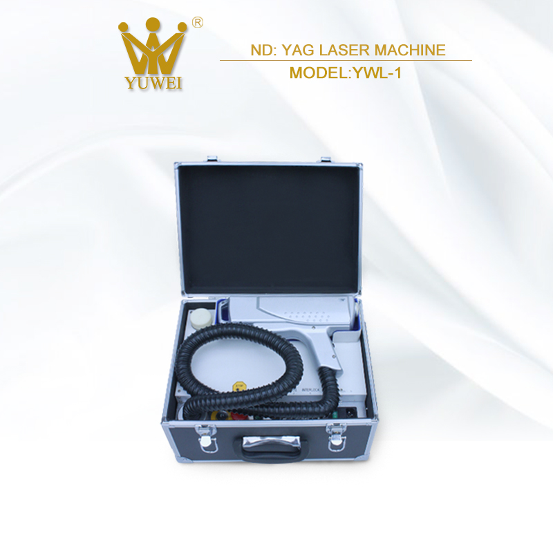 Professional portable q-switched nd yag laser tattoo removal machine