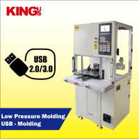 KING'S ODM/OEM USB/ Micro USB cable molding machine with low pressure molding