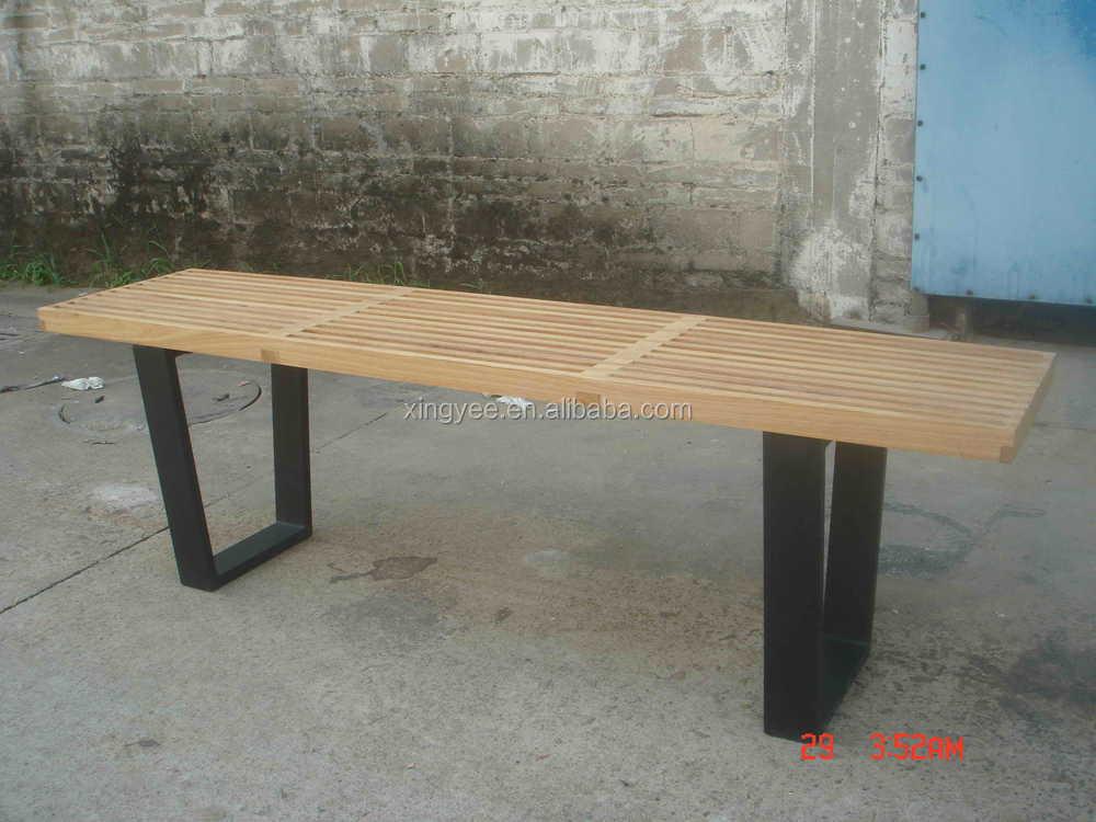 Moderne meubles de maison en bois banc lattes de bois pour for Banc en teck pour salle de bain