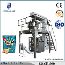 Low cost Large vertical electronic weighing multi head baked mix automatic packing machine price
