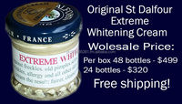 $450 PER BOX ST DALFOUR EXTREME WHITENING CREAM FREE SHIPPING