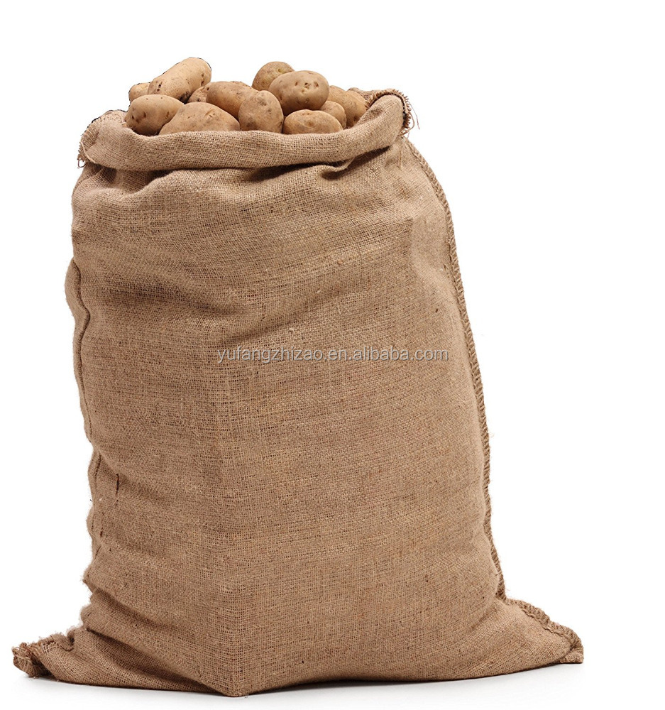 Natural 18in*30in Hessian Sack Burlap Potato Sacks Jute Potato Bag Gunny for Agricultural Use