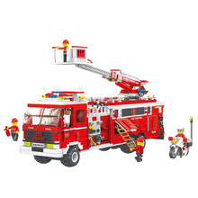 WANGE toys high quality firehouse model educational building blocks