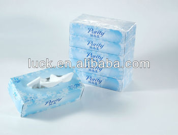 bamboo soft pack box facial tissue