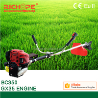 35cc brush cutter with 4-stroke engine engine and metal blade or nylon cutter ,GX35