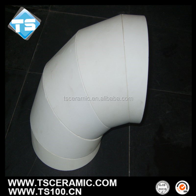 high brush resistant alumina ceramic elbow for thermal power system