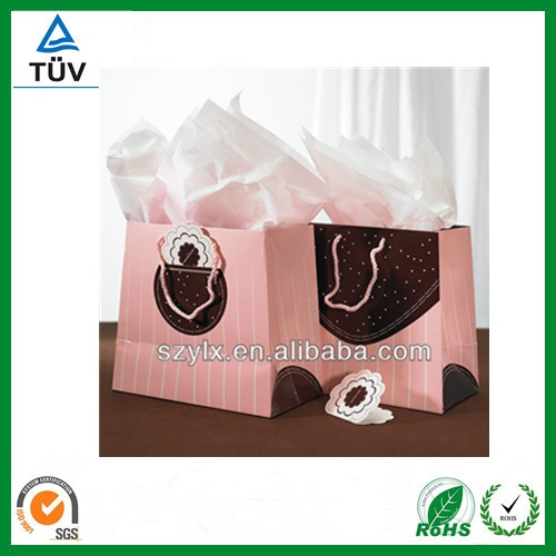 beautiful paper shopping bag with twisted handle / shoe paper bags