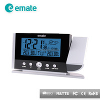 Projection Weather Station Alarm Clock with Ourdoor Temperature