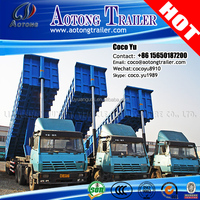 high quality and low price 3 axis tipping trailer truck /Tri axles dump semi-trailer