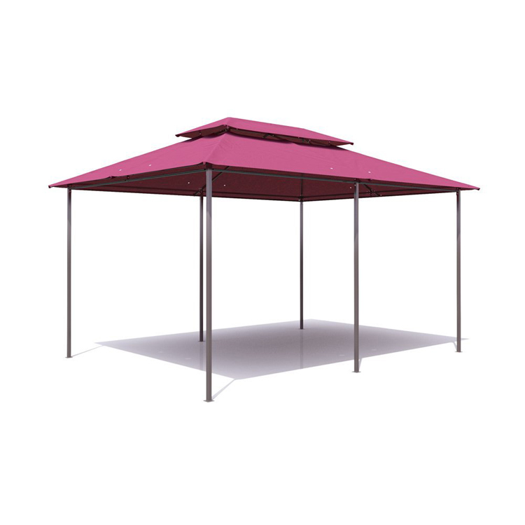 luxury steel garden gazebo with polyester roof and curtain