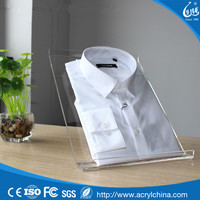 Transparent acrylic clothing desktop display stand shirt for store retail holder