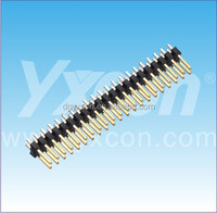 2.54mm pitch dual row feed through DIP type gold plated board to board connector