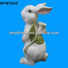 new arrival white porcelain ceramic rabbits