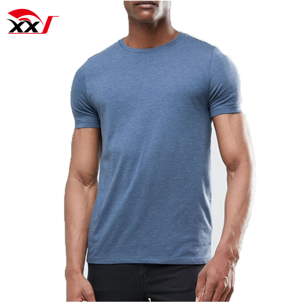 mens clothing 2018 95 cotton 5 spandex fitted plain t-shirt gym t shirts wholesale cheap t shirt online shopping india