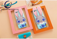 Animal Rabbit Ear Silicone Mobile Phone Case