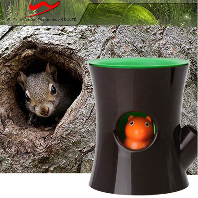 Squirrel appearance ABS Eco innovative cute flower pots plastic liners