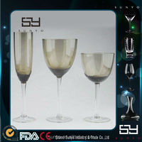 Best Selling Hand Blown Pewter wine goblets