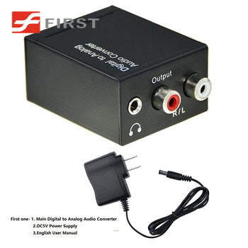 digital (toslink) to analog converter (dac) with 3.5mm audio headphone