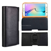 Universal Litchi Grain Leather PU Belt Clip Pouch Case Holster for Samsung Note 7