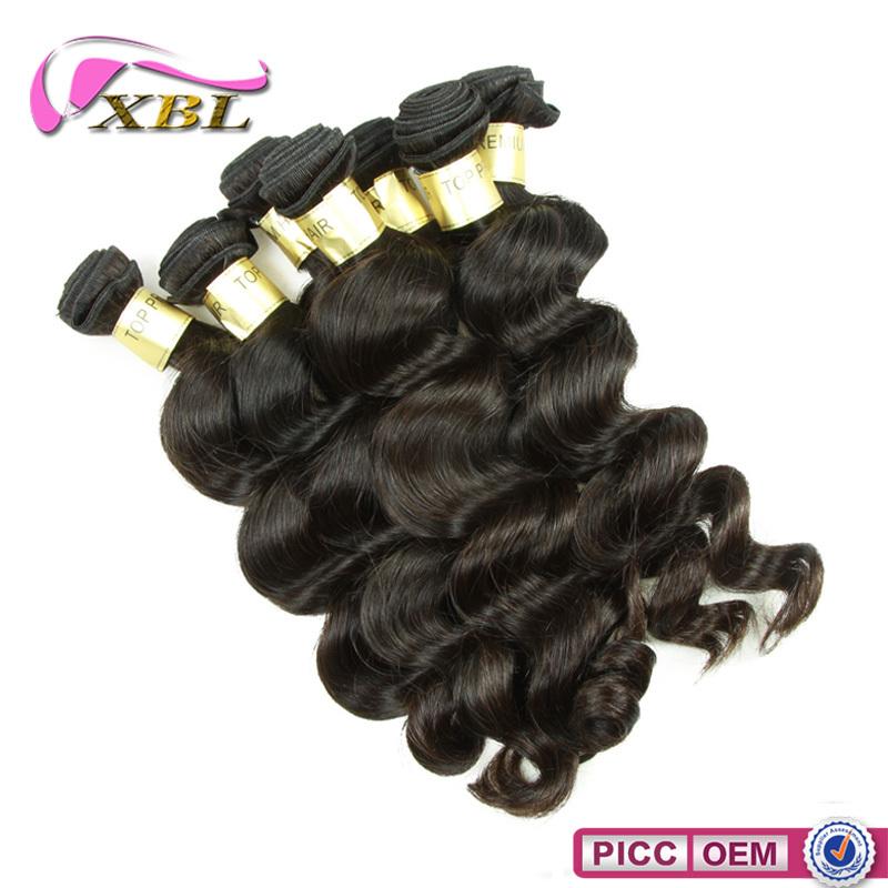 XBL cabelo Emaranhado Livre Top Grade 8a Virgem Onda Solta Peruano Feixes de Cabelo Humano