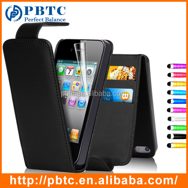 Promotional Black Credit Card PU Case For iPhone 4S